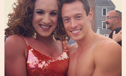 Davey Wavey lifts his Pinky at the Provincetown Tea Dance