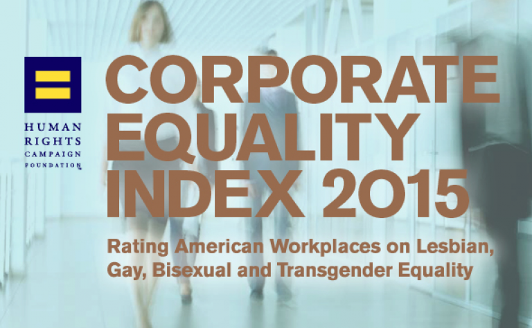 HRC CORPORATE EQUALITY INDEX 2015 Image