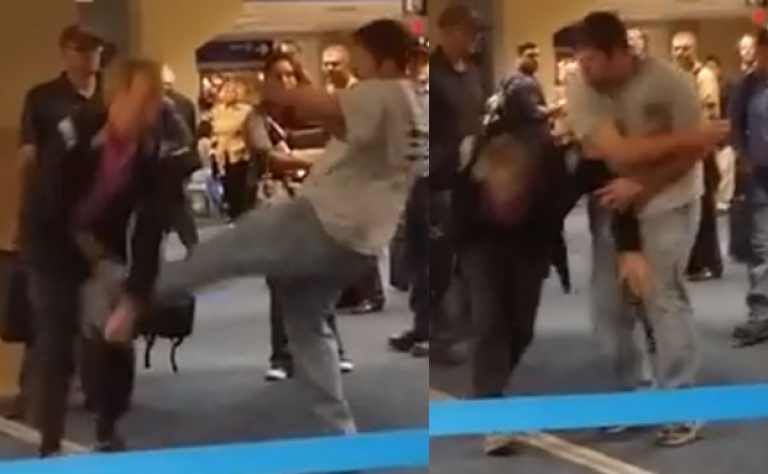 Homophobic Assault At Dallas Airport Caught On Tape Image