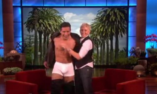 Video: Ellen Strips Mario Lopez On Her Show