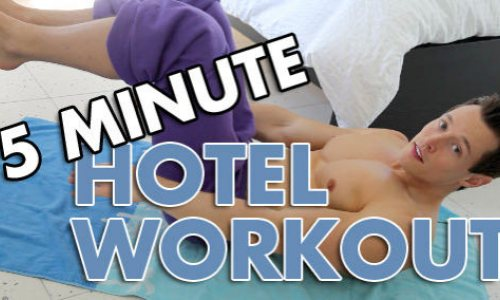 Davey Wavey's Insane 5-Minute Hotel Room Workout