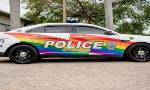 """Policing with Pride"": South Florida Police Department Paint Patrol Car in Support of LGBT Pride"
