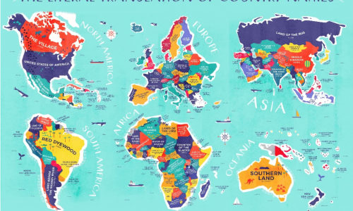 Discover the Literal Meaning of EVERY Country's Name with this Marvelous Map!