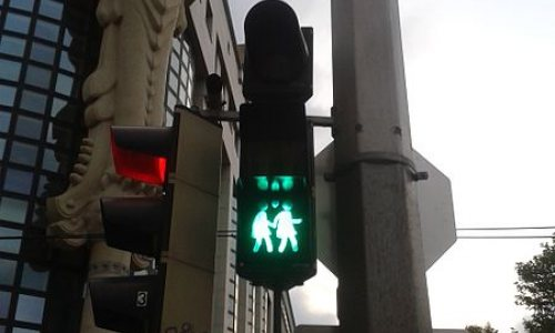 Gay Crosswalk Signs Featured in Vienna!
